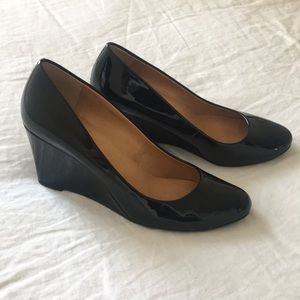 JCrew Patent Wedges